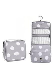 Nécessaire Viagem Maternidade Bubble Cinza - Masterbag Baby
