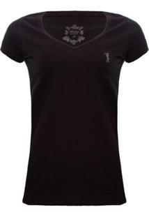 Camiseta Gola V Básica Aleatory Feminina - Feminino