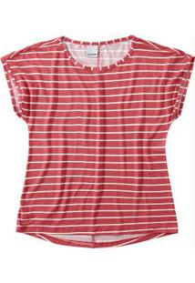 Blusa Vermelha Estampa Listrada Malwee