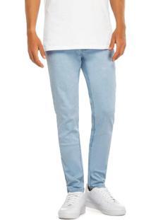 Calça Azul Claro Skinny Jeans Stretch