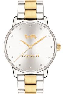 Relógio Coach Feminino Aço Prateado E Dourado - 14502928