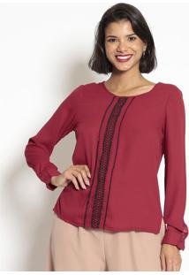 Blusa Com Passamanaria- Vermelha & Preta- Seduã§Ã£O Drseduã§Ã£O Dress