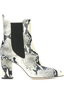 Paris Texas Snakeskin-Effect Ankle Boots - Neutro