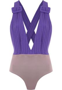 Framed Body 'Superb' Canelado - Roxo