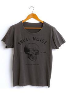 Camiseta Estonada Corte À Fio Joss Skull Noise Masculina - Masculino