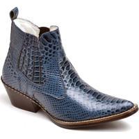 Bota Top Franca Shoes Country - Masculino-Azul 497cf54b961