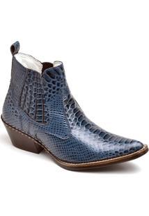 Bota Top Franca Shoes Country - Masculino-Azul