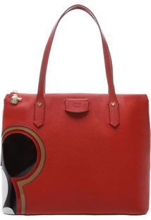 Bolsa Mickeyâ® Com Recortes- Vermelha & Pretaarezzo & Co.
