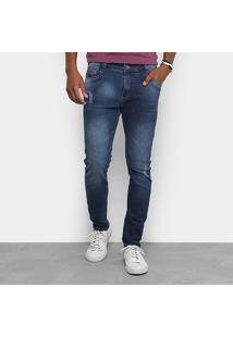 Calça Jeans Skinny Gangster Com Respingos Masculino - Masculino