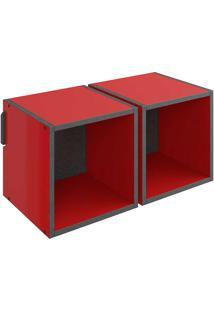Nicho Duplo Mov – Be Mobiliário - Vermelho / Carbono