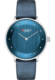 Relógio Curren Analógico C9033L Azul E Prata