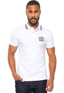 Camisa Polo Malwee Textura Branca
