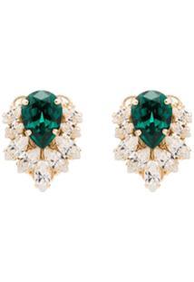 Anton Heunis Crystal Cluster Earrings - Verde