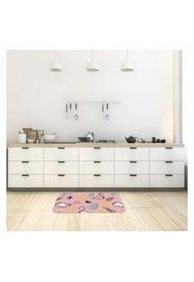 Tapete De Cozinha Mdecore Flamingo Rosa 40X60Cm
