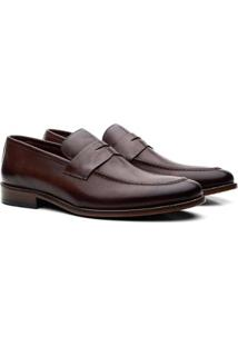 Sapato Tom Lord Em Couro Loafer Masculino - Masculino-Tabaco