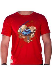 Camiseta Masculina Eco Canyon Car In The Mud Vermelho