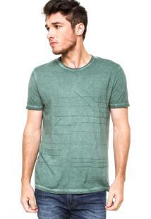 Camiseta Manga Curta Calvin Klein Jeans Jateada Verde