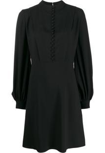 Chloé Vestido Com Abotoamento Frontal - Preto
