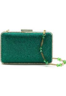 Serpui Bolsa Clutch De Cristal - Verde