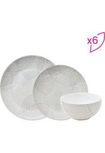 Aparelho De Jantar Baoba Em Porcelana- Branco & Cinza Clfull Fit