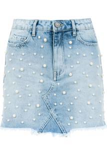 835d5ac4ea Saia E Mini Saia Azul Perola feminina