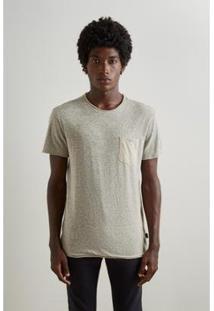 Camiseta Reserva Duplaface Masculina - Masculino-Bege