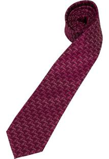 Gravata Rosa Estampada - Uni
