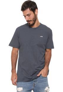 Camiseta Mcd Listrada Azul-Marinho