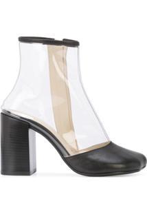 Mm6 Maison Margiela Ankle Boot Transparente - Preto