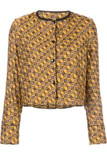 Suzanne Rae Geometric Jacquard Jacket - Amarelo