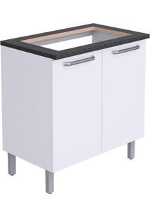 Balcão Para Cozinha Cacau Ll 2 Pt Branco 80 Cm