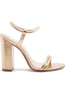 Sandália Salto Bold Strings Gold   Schutz