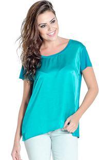 Blusa T-Shirt Douglas Harris Acetinada Verde