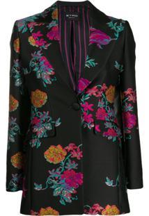 Etro Floral Embroidered Blazer - Preto