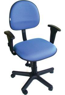 Cadeira Gold Executiva C Braço Tecido Azul