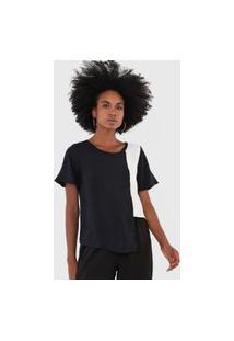 Camiseta Triton Assimétrica Preta