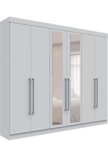 Guarda-Roupa Casal Com Espelho Toronto 6 Pt Branco