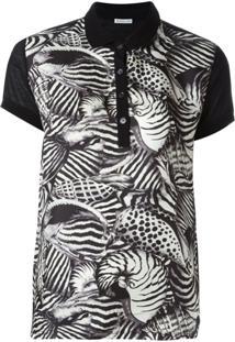 6bc7755347 ... Moncler Camisa Polo Animal Print - Preto