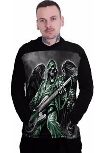 Camiseta Stompy Manga Longa Skull Rocker - Masculino