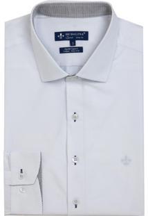 Camisa Dudalina Tricone Lisa Masculina (Rosa Medio, 4)
