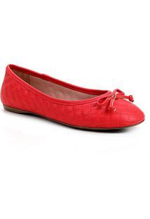 Sapatilha Shoestock Clássica Matelassê Feminina - Feminino-Vermelho