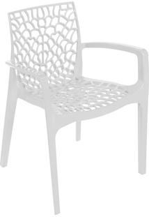 Cadeira Gruvyer Com Braço S6626 – Or Design. - Branco