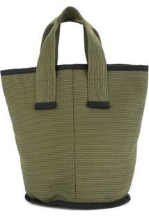 Cabas Bolsa Tote Pequena 'Laundry' - Verde