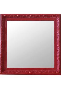 Espelho Moldura Rococó Raso 16389 Vermelho Art Shop