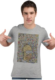 Camiseta Artseries Homer Recorte Cinza