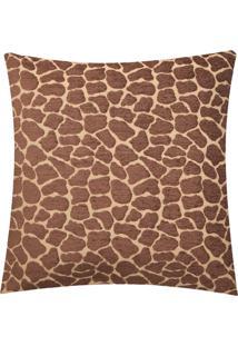 Capa De Almofada Dntt Casa Girafa Marrom