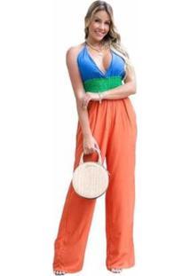 Macacão D Bell Multicolor Feminino - Feminino-Colorido