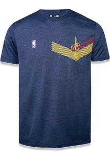 T-Shirt New Era Performance Cleveland Cavaliers Mescla Marinho