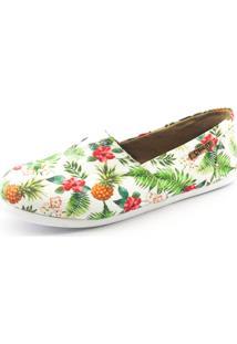 Alpargata Quality Shoes 001 Abacaxi Branca - Tricae
