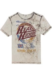 Camiseta John John Rg Real Rockers Malha Off White Masculina (Macadamia, P)